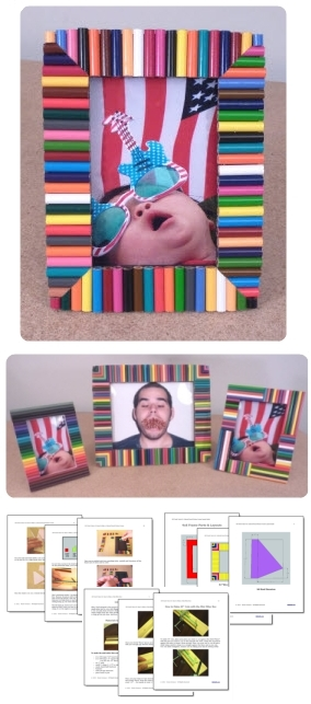 Colored Pencil Picture Frame
