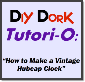 Hubcap Clock Tutorial Cover Page