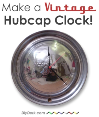How to Make a Vintage Hubcap Clock Tutorial