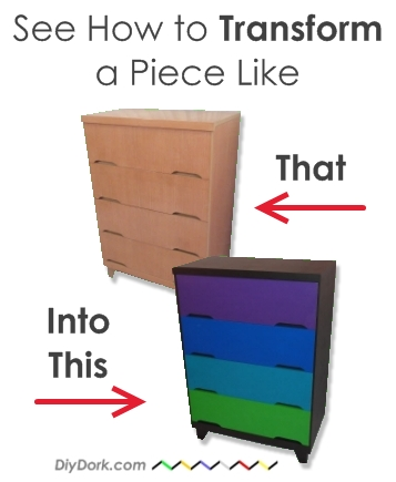 DIY Dork's How to Paint Furniture Tutorial Before & After