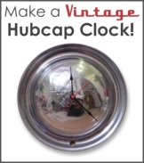 How to Make a Vintage Hubcap Clock