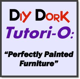 DIY Dork Painted Furniture Tutorial Cover