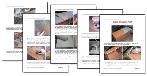 DIY Dork's How to Paint Furniture Tutorial Page Samples